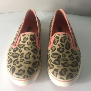 Leopard SPERRY TOP -SIDER Canvas Slip On. Size 7.5
